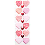 Martha Stewart Crafts - Valentine Collection - Layered Stickers with Foil Accents - Candy Hearts