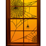 Martha Stewart Crafts - Halloween - Window Clings - Spiderweb Corner
