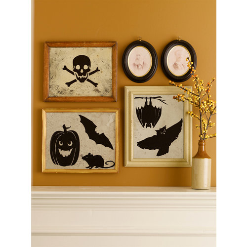 Martha Stewart Crafts - Halloween - Mirror Clings - Pumpkin