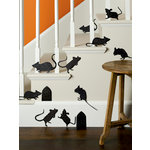Martha Stewart Crafts - Halloween - Silhouettes - Glittered Mice