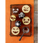 Martha Stewart Crafts - Halloween - Cupcake Stencils - Pumpkin Face