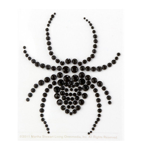 Martha Stewart Crafts - Halloween - Bling - Gemstone Stickers - Spider