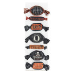 Martha Stewart Crafts - Halloween - 3 Dimensional Stickers - Wrapped Candy - Halloween Icon