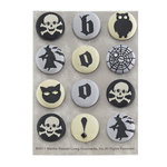 Martha Stewart Crafts - Elegant Witch Collection - Halloween - Fabric Brads