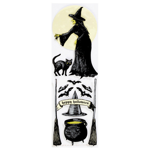 Martha Stewart Crafts - Elegant Witch Collection - Halloween - Stickers - Icon