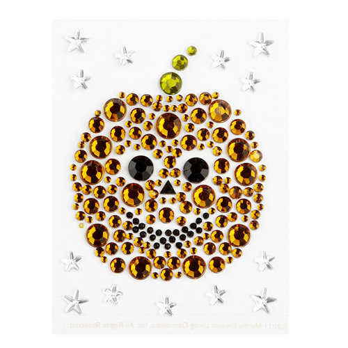 Martha Stewart Crafts - Halloween - Bling - Gemstone Stickers - Pumpkin