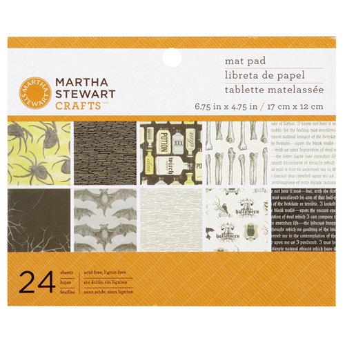 Martha Stewart Crafts - Elegant Witch Collection - Halloween - Mat Paper Pad