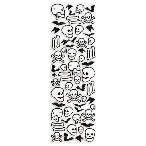 Martha Stewart Crafts - Halloween - Glitter Stickers - Skull and Bone
