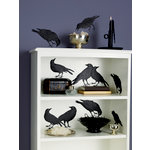 Martha Stewart Crafts - Halloween - Silhouettes - Glittered Crow