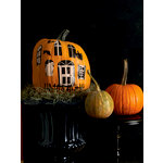 Martha Stewart Crafts - Halloween - Pumpkin Transfers - Haunted House