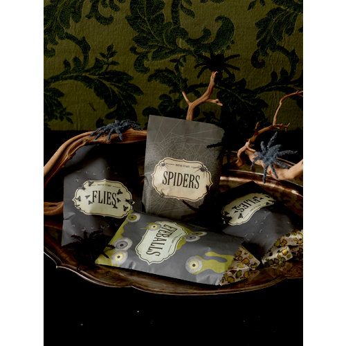 Martha Stewart Crafts - Halloween Collection - Wax Treat Bags - Haunted