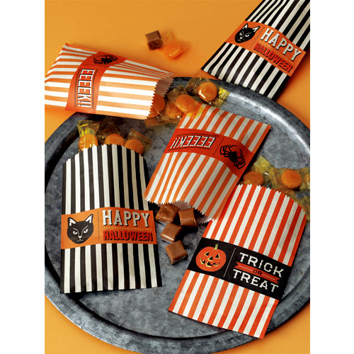 Martha Stewart Crafts - Halloween Collection - Wax Treat Bags - Carnival