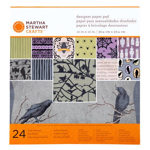 Martha Stewart Crafts - Halloween Collection - 12 x 12 Designer Paper Pad - Haunted