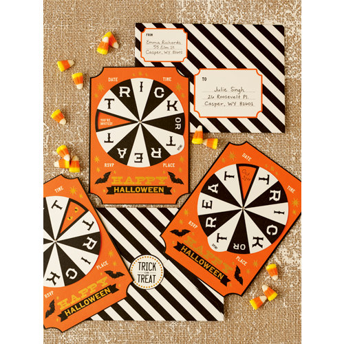 Martha Stewart Crafts - Halloween Collection - Spinner Invitations - Carnival