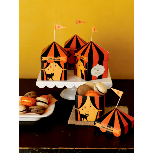 Martha Stewart Crafts - Halloween Collection - Tent Treat Boxes - Carnival