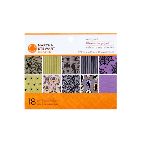 Martha Stewart Crafts - Halloween Collection - Mat Paper Pad - Haunted