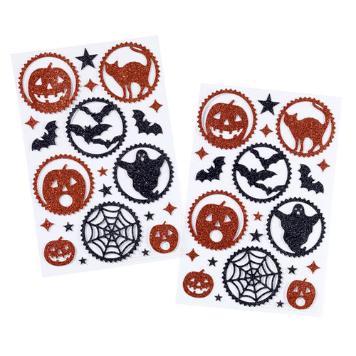 Martha Stewart Crafts - Halloween Collection - Glitter Die Cut Stickers - Carnival