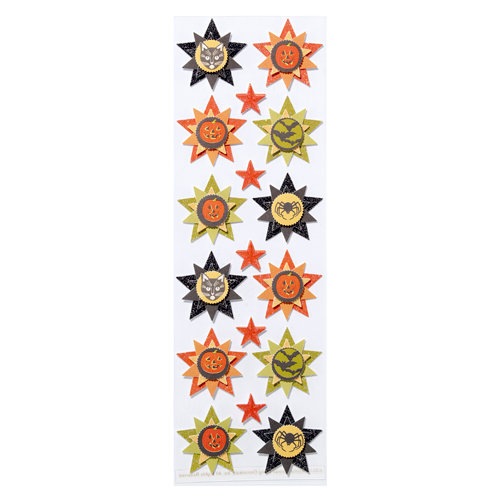 Martha Stewart Crafts - Halloween Collection - Layered Stickers with Glitter Accents - Carnival Icon
