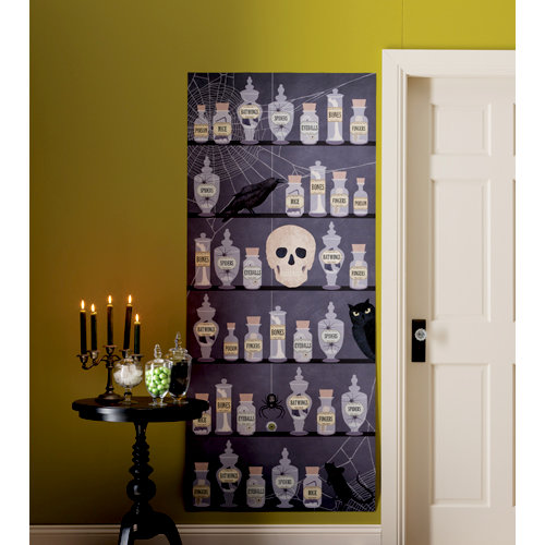 Martha Stewart Crafts - Halloween Collection - Hanging Wall Decoration - Scene Setter - Haunted