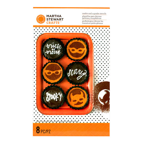 Martha Stewart Crafts - Animal Masquerade Collection - Halloween - Cookie and Cupcake Stencils