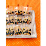 Martha Stewart Crafts - Animal Masquerade Collection - Halloween - Jack O Lantern Treat Bags
