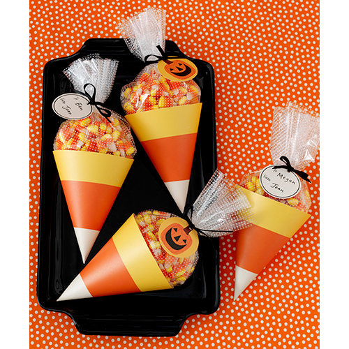 Martha Stewart Crafts - Animal Masquerade Collection - Halloween - Candy Corn Treat Bags