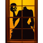 Martha Stewart Crafts - Gothic Manor Collection - Halloween - Headless Woman Window Cling