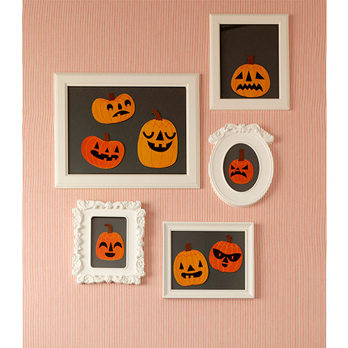 Martha Stewart Crafts - Animal Masquerade Collection - Halloween - Jack O Lantern Mirror Clings