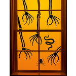 Martha Stewart Crafts - Gothic Manor Collection - Halloween - Hands Critters Window Cling
