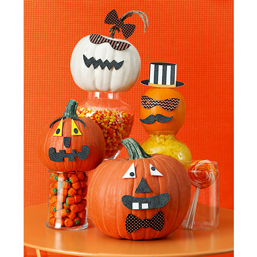 Martha Stewart Crafts - Animal Masquerade Collection - Halloween - Pumpkin Faces