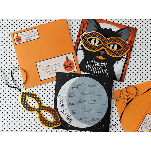 Martha Stewart Crafts - Animal Masquerade Collection - Halloween - Invitation Kit