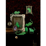 Martha Stewart Crafts - Animal Masquerade Collection - Halloween - Glow in the Dark Mouse Silhouettes