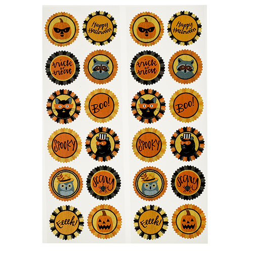 Martha Stewart Crafts - Animal Masquerade Collection - Halloween - Cardstock Stickers - Icons