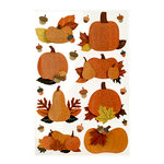Martha Stewart Crafts - Animal Masquerade Collection - Halloween - Layered Stickers with Glitter Accents - Pumpkin Patch