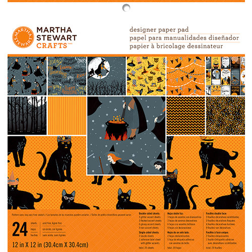 Martha Stewart Crafts - Animal Masquerade Collection - Halloween - 12 x 12 Designer Paper Pad