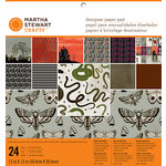 Martha Stewart Crafts - Gothic Manor Collection - Halloween - 12 x 12 Designer Paper Pad