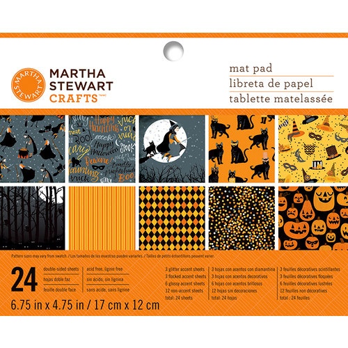 Martha Stewart Crafts - Animal Masquerade Collection - Halloween - Mat Paper Pad