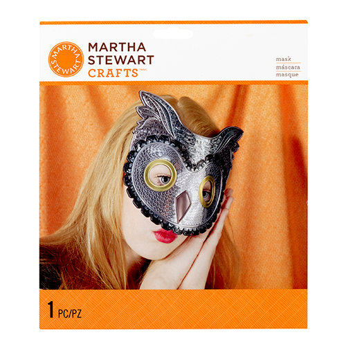Martha Stewart Crafts - Animal Masquerade Collection - Halloween - Decorative Mask - Owl