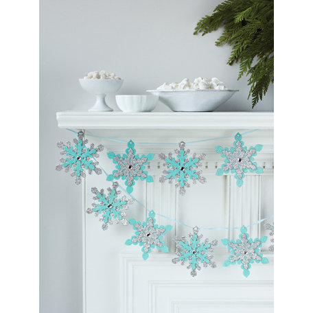 Martha Stewart Crafts - Snowflace Collection - Christmas - Glittered Garland