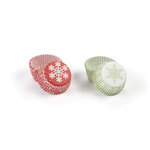 Martha Stewart Crafts - Snowflace Collection - Christmas - Mini Cupcake Treat Wrappers
