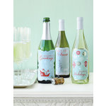 Martha Stewart Crafts - Snowflace Collection - Christmas - Wine Labels