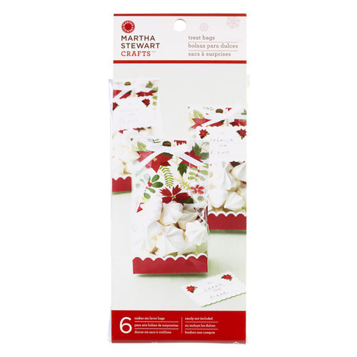 Martha Stewart Crafts - Woodland Collection - Christmas - Cellophane Treat Bags - Poinsettia