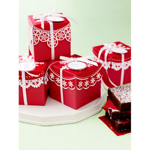 Martha Stewart Crafts - Snowflace Collection - Christmas - Present Treat Boxes