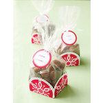 Martha Stewart Crafts - Snowflace Collection - Christmas - Cellophane and Tray Treat Bags