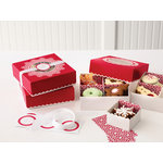 Martha Stewart Crafts - Snowflace Collection - Christmas - Treat Boxes with Compartments