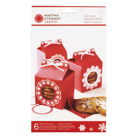 Martha Stewart Crafts - Snowflace Collection - Christmas - Treat Boxes