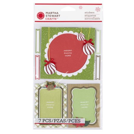 Martha Stewart Crafts - Woodland Collection - Christmas - Layered Stickers - Frames