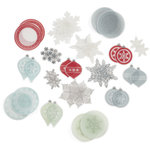 Martha Stewart Crafts - Snowflace Collection - Christmas - Die Cut Vellum Pieces