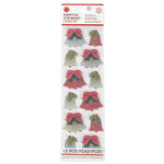 Martha Stewart Crafts - Snowflace Collection - Christmas - Glitter Stickers - Bell