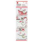 Martha Stewart Crafts - Snowflace Collection - Christmas - 3 Dimensional Stickers - Sleigh and Presents